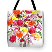 Floral Thirteen Tote Bag