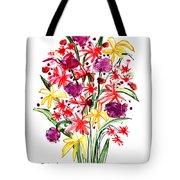 Floral Three Tote Bag