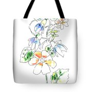 Floral Watercolor Paintings 4 Tote Bag