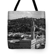 Florence - Black And White Tote Bag