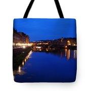 Florence Arno River Night Tote Bag