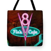 Flo's V8 Cafe - Cars Land - Disneyland Tote Bag by Heidi Smith