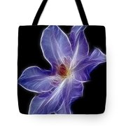Flower - Clematis - Abstract Tote Bag