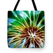 Flower - Dandelion Tears - Abstract Tote Bag