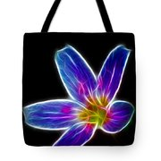 Flower - Electric Blue - Abstract Tote Bag