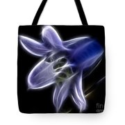Flower - Ghostly Blue - Abstract Tote Bag