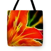 Flower - Lily 1 - Abstract Tote Bag