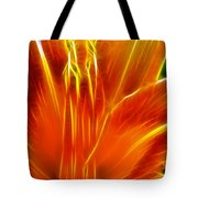 Flower - Orange - Abstract Tote Bag