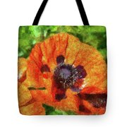 Flower - Poppy - Orange Poppies  Tote Bag