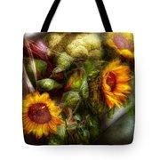Flower - Sunflower - Gardeners Toolbox  Tote Bag