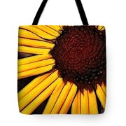 Flower - Yellow And Brown - Abstract Tote Bag