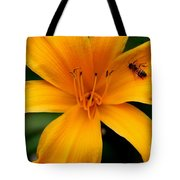 Flower And Bee Tote Bag