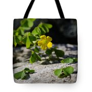 Flower And Dancing Clover Tote Bag