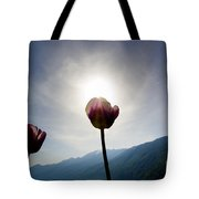 Flower And Sun Tote Bag