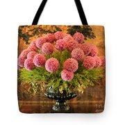 Flower Arrangement Chateau Chenonceau Tote Bag