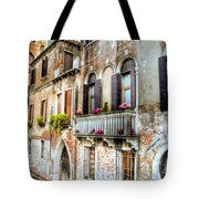 Flower Balcony Tote Bag