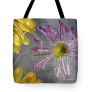 Flower Blossoms Under Ice Tote Bag