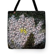 Flower Bottle Cap Mosaic Tote Bag by Paul Van Scott