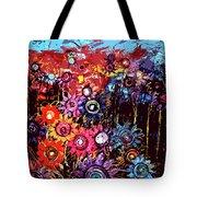 Flower Garden Tote Bag by Karen Elzinga