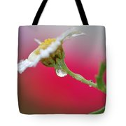 Flower In Red Tote Bag