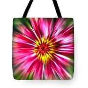 Flower Pin Wheel Tote Bag