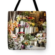 Flower Shop Tote Bag by Heather Applegate