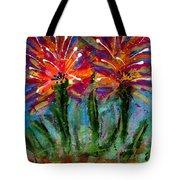 Flower Towers Tote Bag