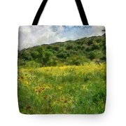 Flowering Fields Tote Bag