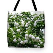 Flowering Snowball Shrub Tote Bag