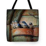 Flowerpot Swallows Tote Bag by Jai Johnson