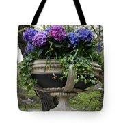 Flowerpot With Hydrangea Tote Bag