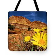Flowers And Buttes Tote Bag