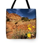 Flowers And Canyons Tote Bag