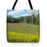 Flowers And Grass Two Tote Bag