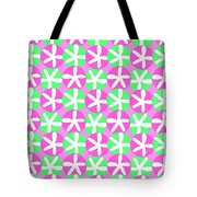 Flowers And Spots  Tote Bag