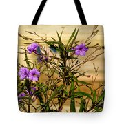Flowers At The Dock Tote Bag