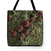 Flowers, Digital Streak Image Tote Bag