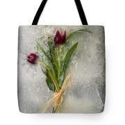 Flowers Frozen In Ice Tote Bag