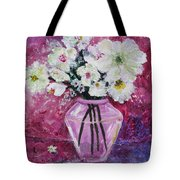 Flowers In A Magenta Room Tote Bag