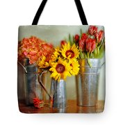 Flowers In Cans Tote Bag