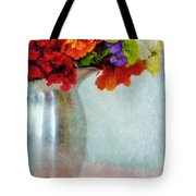 Flowers In Metal Pitcher Tote Bag