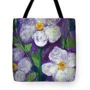 Flowers In Moonlight Tote Bag