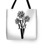 Flowers In Type Tote Bag