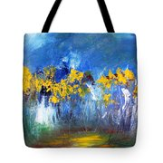 Flowers Of Maze In Blue Tote Bag