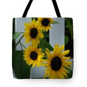 Flowers On A Fence Tote Bag