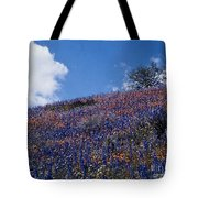 Flowers On A Hill Tote Bag