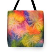 Flowers On Color Tote Bag