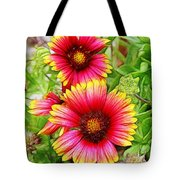 Flowers On The Beach Tote Bag
