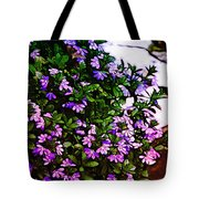 Flowers On The Hill Tote Bag