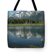 Flowers On The Lake Tote Bag